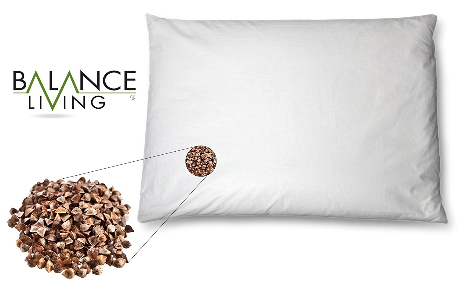 Buckwheat Pillow by Balance Living