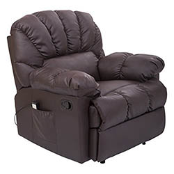 HomCom PU Leather Vibrating Massage Sofa Chair Recliner