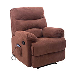 HomCom PU Leather Vibrating Suede Massage Recliner