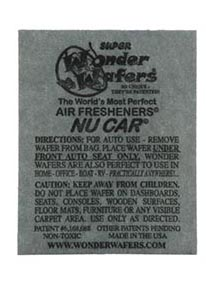 Air Fresheners 50ct. Nu Car Fragrance by Wonder Wafers