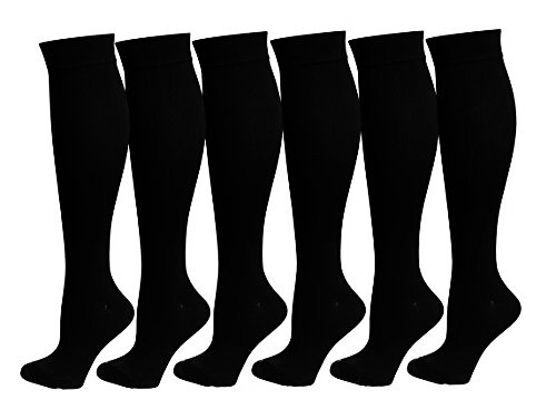6 Pairs of Upgraded Knee High Graduated Compression