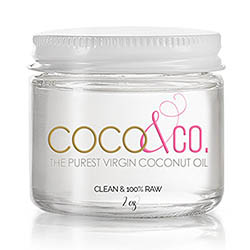 Coconut Oil for Hair and Skin By COCO and CO Beauty Grade 100 RAW Mini Jar