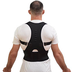 Comfort Posture Support and ShoulderBack Pain Relief Adjustable Back Brace with Under - Arm Support Cush