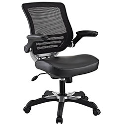 Edge Office Chair with Mesh Back and Black Leatherette Seat by Modway