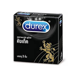 Durex Kingtex small size 49mm. Smooth Condom