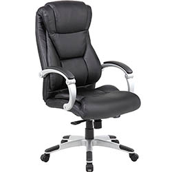 Large Executive Office Chair - Sleek & Neutral Design, Dual Wheel Casters by Genesis Designs