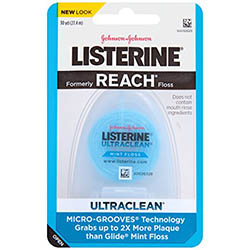 Listerine Ultraclean Floss, Mint, 30 yard