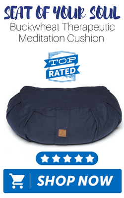 Seat of your Soul Buckwheat Therapeutic Meditation Cushion