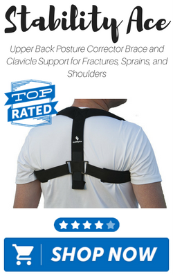 Upper Back Posture Corrector Brace and Clavicle Support for Fractures, Sprains, and Shoulders by StabilityAce
