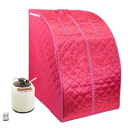 WYZworks PinkPortable Therapeutic Personal Steam Sauna Spa Room