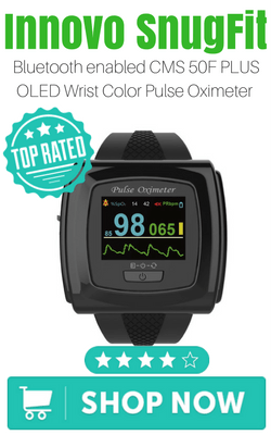 Bluetooth enabled CMS 50F PLUS OLED Wrist Color Pulse Oximeter with Innovo SnugFitBluetooth enabled CMS 50F PLUS OLED Wrist Color Pulse Oximeter with Innovo SnugFit