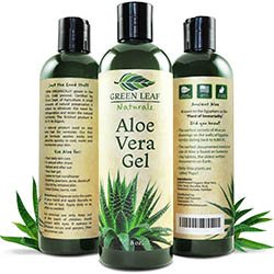 Green Leaf Naturals Aloe Vera Gel for Skin, Face and Hair