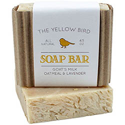 Lavender Soap Bar with Goats' Milk and Oats by The Yellow Bird