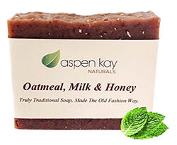 Oatmeal Soap Bar with Organic Honey, Goats' Milk and Organic Shea Butter by Aspen Kay Naturals