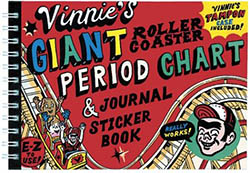 Vinnie's Giant Rollercoaster Period Chart and Journal Sticker Book